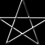 3d silver pentagram symbol